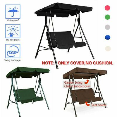 Garden Swing Chair 2&3 Seater Canopy Patio Hammock Bench Lounger Cover Outdoor