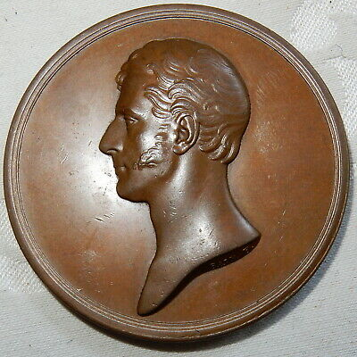 1840 BRONZE MEDAL - G G LEVISON GOWER, DUKE OF SUTHERLAND By F BAIN G EF ANTIQUE