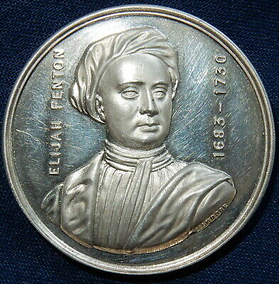 19th CENTURY SILVER MEDAL - ELIJAH FENTON NEWCASTLE U LYME By J MOORE ANTIQUE