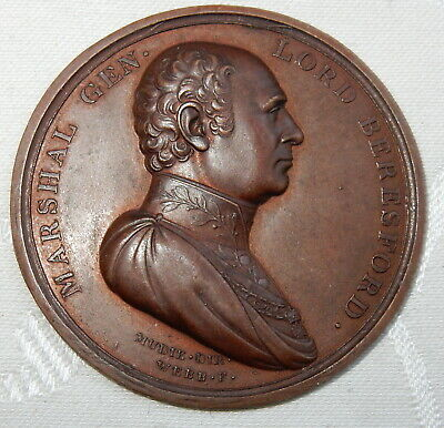 1811 BRONZE MEDAL - GENERAL MARSHAL LORD BERESFORD By THOMAS WEBB ANTIQUE