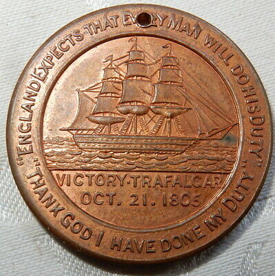 1905 Bronze Medal - Centenary Battle Of Trafalgar Nelson St George Society