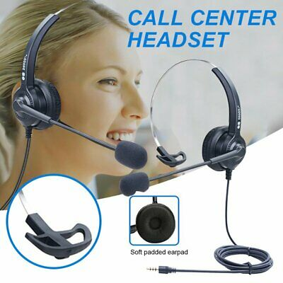 Noise Cancelling Microphone Headset Call Centre Office Telephone Headphones RJ