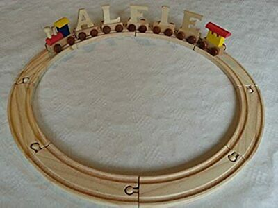 *5* letter name wooden colour alphabet train and track