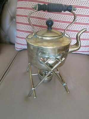 Very Nice Antique Brass Spirit Kettle On Stand Similar To Christopher Dresser ?