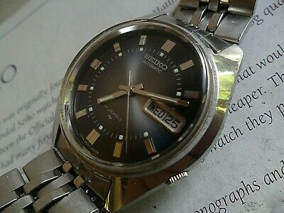 Grey Dial Vintage 1970's Men's Seiko 17J Automatic Day Date Watch 7009-8019 Runs