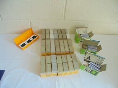 large job lot of 792 35mm slides  and storage boxes