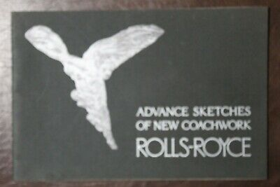 Rare Rolls-Royce Advance Sketches of New Coachwork 1974 Reprint of 1925 Orig.