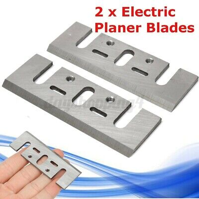 """2PC Electric HSS Planer Spare Blades 82mm 3.2"""" High Speed Parts For   ~"""