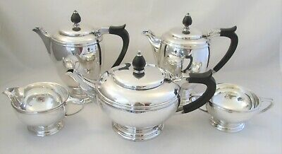 A Fine 5 Piece Silver Plated Tea Set by Mappin and Webb