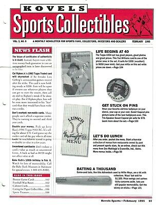 1995 Kovels Sports Collectibles Newsletters (10 Different in All) EX