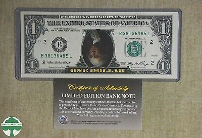 Upside Down $1 - Limited Edition Bank Note With Coa & Holder - Merrick Mint