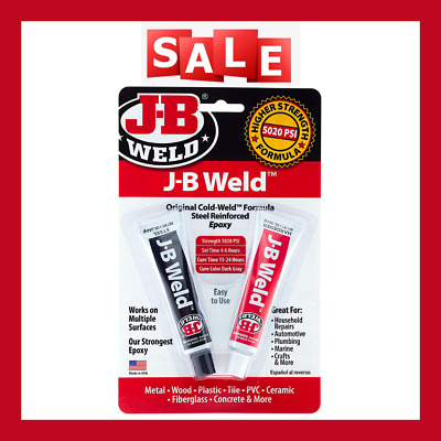 J-BWeld 8265S Original Cold-Weld Steel Reinforced Epoxy surfaces and creates 2oz