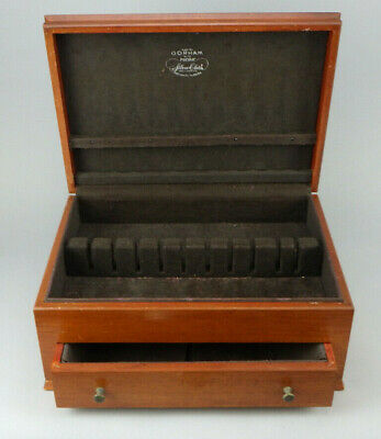 Pacific Silvercloth Lined Wood Gorham Silver Silverplate Flatware Chest Drawer