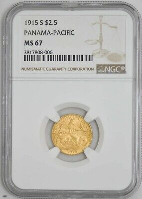 1915-S $2 1/2 Gold Panama-Pacific MS67 NGC 942803-1