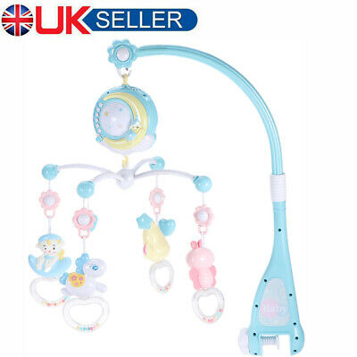 Baby Musical Mobile Projection Nursery Lights Bed Crib Cot Music Toy Bell Rattle