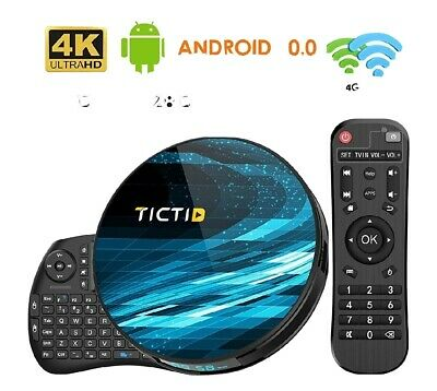 Android 10.0 TV BOX 4G Ram + 128G Con Mini Tastiera Dual WiFi 2.4G / 5GHz
