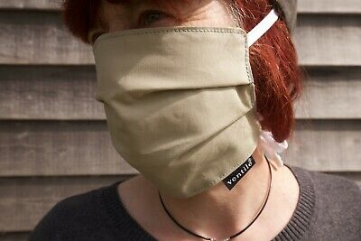 Ventile Cotton Face Mask with Cotton Fastening