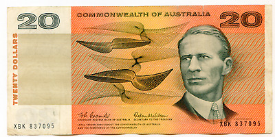 Australia, Commonwealth 20 Dollars Pick 41a (1966) nice note    lotmay6527
