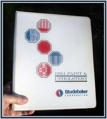 1964 Studebaker all models hard cover Paint Upholstery elaborate 22 page binder