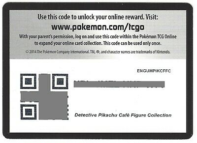 POKEMON Detective Pikachu UNUSED Cafe Figure Collection ENGUMPIKCFFC ONLINE CODE