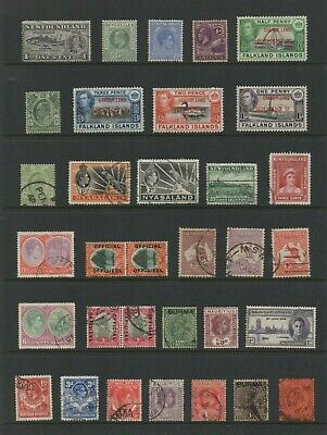 British Colonies Edward Vii - George Vi Mtd/Hinged Mint & Used - See 2 Scans