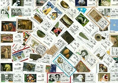 A Lovely Mix Of Mostly Recent All Different Commemorative Stamps From Ireland