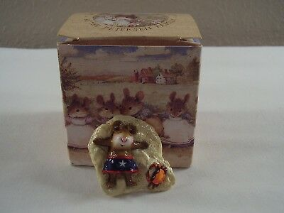 1998 WFF Donna Petersen WEE FOREST FOLK Alone At Last MOUSE Crab BEACH M-236 MIB