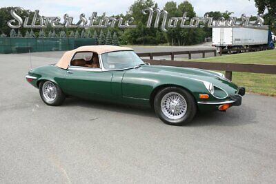 1973 Jaguar E-Type  1973 Green Series III E-Type convertible leather 4 speed V12