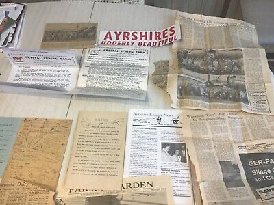 Ayrshire cattle,New York,Wisconsin 1958,59,60,trip,newspapers,Ayrshire Digest+++