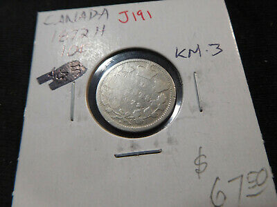 J191 Canada 1872-H 10 Cent