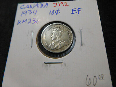 J192 Canada 1934 10 Cent XF