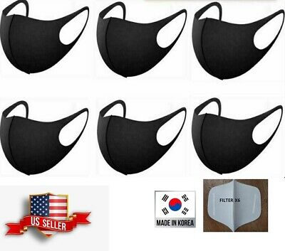 6 Pcs Unisex 3D Fashion Face Mask With Filter Washable Reusable MADE IN KOREA