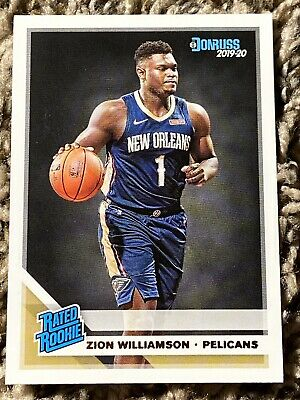 Zion Williamson 2019-20 Panini Donruss #201 Nba Pelicans Rated Rookie Duke