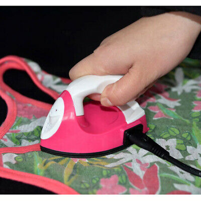 Mini Electric Iron Portable Home Travel Crafting Craft Clothes Sewing Supplies