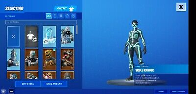 Fortnite Account OG Skull trooper, Wonder skin, minty pickaxe and 200+ skins