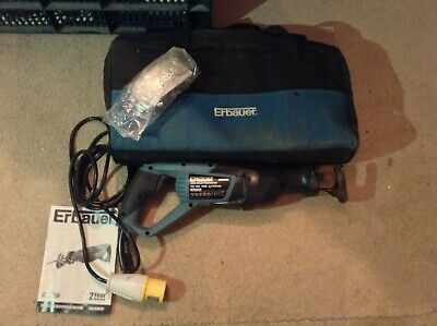 110 Volt Erbauer Reciprocating Saw Used Once With Bag and Glasses etc ...
