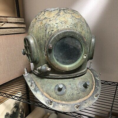 Antique Japanese TOA Diving Helmet from japan!! brass copper