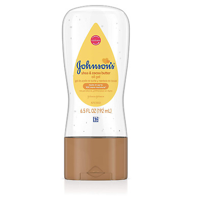 Johnson's Baby Oil Gel With Shea & Cocoa Butter For Baby Massage, 6.5 fl. oz.