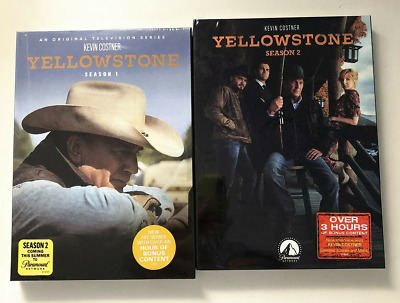 Yellowstone Season 1 & 2 (DVD, 2019, Region 1) Brand New Fast Shipping Region 1