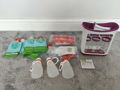 Infantino Squeeze Station baby food bundle £65+ RRP reusable pouches bottles
