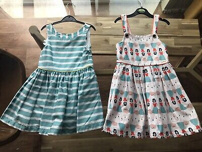 2 x M&S Autograph Girls Lined Dresses Age 4-5.