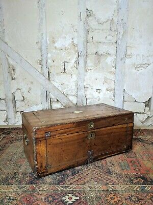 Antique Camphor Wood Chest, Trunk Early 19th Century