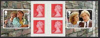 2020 Coronation Street Stamp Booklet  Cylinder Pm73