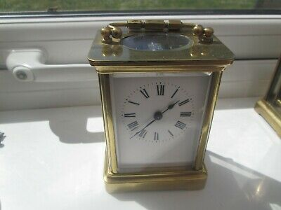 Vintage Carriage Clock  8 Day Brass