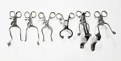 Lot Of 6 Professional Surgical Instruments Tools Self Retaining Hip Retractors