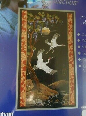 Janlynn Platinum Counted Cross Stitch Kit ~ Cranes ~ #023-0157