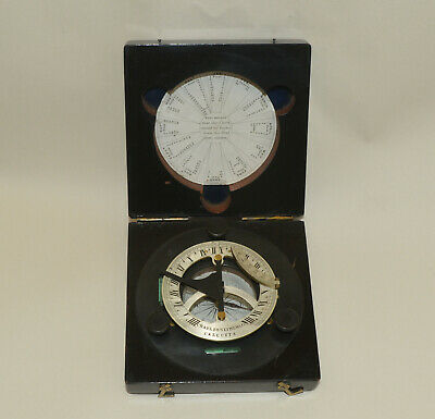 Cased universal compass sundial by Charles, Nephew & Co., Calcutta