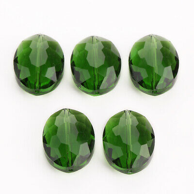 Crystal Oval Faceted Spacer Glass Wholesale Beads Loose Rondelle 20mm 5pcs#P