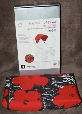 Brand New Bugaboo Donkey Andy Warhol Flowers Canopy Hood Limited Edition Rare