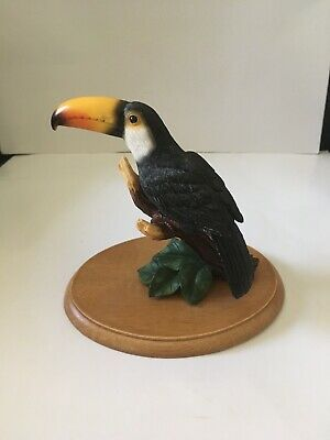 Toucan Bird On A Wooden Base--beautiful